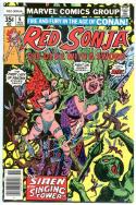 RED SONJA #6, VF+, Robert E Howard, She-Devil Sword, Frank Thorne,1977, Marvel