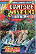 GIANT-SIZE MAN-THING #5, FN/VF, Gerber, Adkins, Howard the Duck, Vampire, 1975