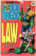 JUDGE DREDD #1 2 3 4 5 6 7 8 9, VF/NM, 9 issues, John Bolland, I Am the Law