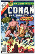 CONAN the BARBARIAN #3 Annual, VF+, Robert Howard, Buscema, more in store