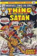 MARVEL TWO-IN-ONE #14, VF/NM, Thing, Son of Satan, 1974 1976