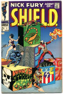 NICK FURY, AGENT of SHIELD #1, VG+, Jim Steranko, Sinnott, 1968, more in store