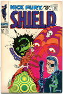 NICK FURY, AGENT of SHIELD #5, FN/VF, Jim Steranko, 1968, more SILVER AGE in store