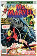 MS MARVEL #5, FN/VF, Jim Mooney, Claremont, 1977, Bronze age, more Marvel in store