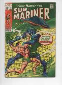 SUB-MARINER #10, VG+, Barracuda, Gene Colan,1968 1969, more Marvel in store