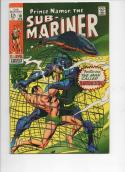 SUB-MARINER #10, FN+, Barracuda, Gene Colan,1968 1969, more Marvel in store
