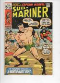 SUB-MARINER #30, FN, Buscema, Captain Marvel, 1968 1970, more in store