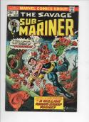 SUB-MARINER #71, VF+, Tuska, Piranha, razor fangs, Marvel, 1968 1974, more in store