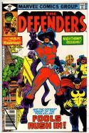 DEFENDERS #74, NM-, Hulk, HellCat, Valkyrie, FoolKiller, 1972 1979, Marvel
