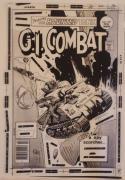GI COMBAT #199 original transparency cover art, Joe Kubert, Haunted Tank, WWII