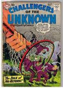 CHALLENGERS of the UNKNOWN #7, GD+/VG, Jack  Kirby, 1958