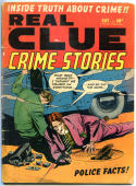 REAL CLUE CRIME STORIES V5 #9, VG-, 1950, Golden Age, Pre-code, more in store