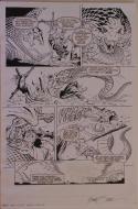 MICHAEL ZECK / DENNIS JANKE original art, ELIMINATOR #0 pg 4, 12x18, Mike, Snake
