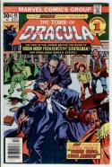 TOMB of DRACULA #49, FN+, Vampire, Frankenstein, 1972, Bronze Age Marvel Horror