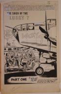 MIKE SEKOWSKY / FRANK GIACOIA / JOE GIELLA, original art, FIGHT #1, Splash, 1966