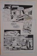 GENE COLAN / STEVE MITCHELL original art, SILVERBLADE #6 pg 13, 13x20,1987, Yoga