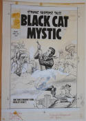 DOUG WILDEY (attributed) original art, BLACK CAT MYSTIC Cover #62,13
