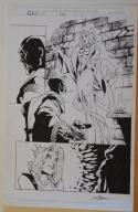 RANDY GREEN / SCOTT HANNA original art, CABLE #42 pg 2, 11x17,2/3 Splash, Signed