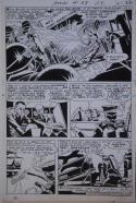 MIKE SEKOWSKY / GEORGE ROUSSOS original art, ATOM #38 pg 22, 1968, Invasion