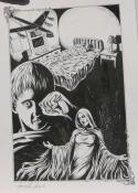 DOUG SIROIS original published art, BANSHEE'S CRY splash page 11, 12