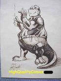 DINOSAURS FOR HIRE ARCHIE Original art by Scott Benefiel, 1989