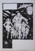 CARMINE INFANTINO / JOE RUBENSTEIN original art, GALAXY KNIGHTS Splash, 11