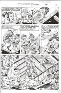 ERNIE CHAN Published Original Art SAVAGE SWORD of CONAN #132, pg #31,Sword fight
