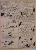 BOB POWELL original art, ALL NEW COMICS #4 pg 7, 1943, Bombs over Berlin, WWII