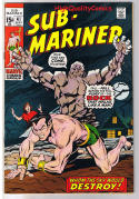 SUB-MARINER #41, FN+, George Tuska, Destroy, 1968, more in store