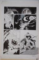 BO HAMPTON original art, MAGIC the GATHERING SHANDALAR #2, 1996, 11x17, Valiant