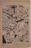 ALEX BLUM original art, FIGHT COMICS #38 pg 30, 1945, Shark Brodie, Fight, Ships