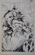 ROSS ANDRU PABLO MARCOS original art, BATMAN Annual 12, 1988, Satan Devil Splash