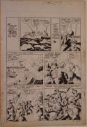 LOUIS CAZENEUVE original art, ALL NEW COMICS 7 pg 5, 1944, Boy Heroes, Big Fight