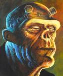 DON MARQUEZ original art, FRANKENSTEIN, Published Cover, 16x20 on board, 2010