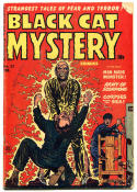 BLACK CAT MYSTERY #33, VG, Electrocution cover,1951, Golden Age, Pre-code, HTF