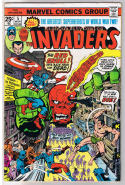 INVADERS #5, FN+, Captain America, Human Torch, Red, 1975, more in store