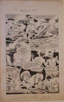 HENRY KIEFER original art, WAMBI JUNGLE BOY #9 pg 4, 14x23, 1950, Elephant,Crocs