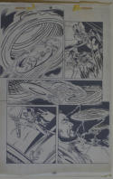 DICK GIORDANO / MIKE DeCARLO original art, SLIDERS Armada #2 pg 17,11x17, Aliens
