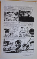 SAM GLANZMAN original art, TALES of the GREEN BERET #4 pg 26, 14x 22, War, 1967