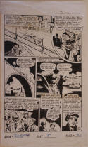 JUMBO COMICS #164 pg 21 original art, 13x22, 1952, Private Eye, Assassination