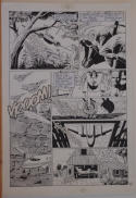 PAUL GULACY / DAN ADKINS original art, CODENAME DANGER  #4, pg 15, Pope plot